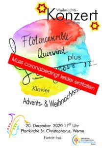 Plakat Querwind Weihnachtskonzert 2020