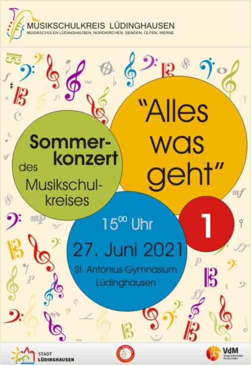 Plakat Sommerkonzert Teil 1