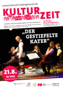 Kulturzeit | Der gestiefelte Kater - Musikalisches Märchen für Kinder und Erwachsene @ Hof der Burg Lüdinghausen (bei Schlechtwetter Aula St. Antonius Gymnasium)