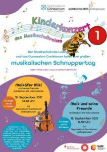 """Kinderkonzert """"Maikäfer Miki und seine Freunde entdecken die Instrumente"""" (für Kinder von 5-7 Jahren) @ Aula Canisianum Lüdinghausen"""